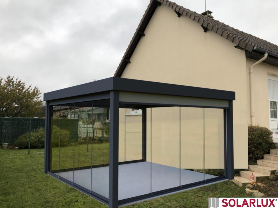 Simulation 3D de pergola en Sarthe, près de Le Mans