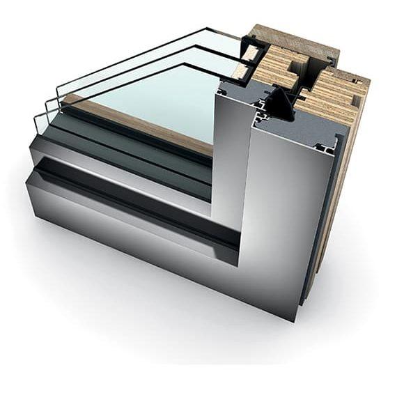 fabricant de fenêtre internorm, coupe fenêtre triple vitrage