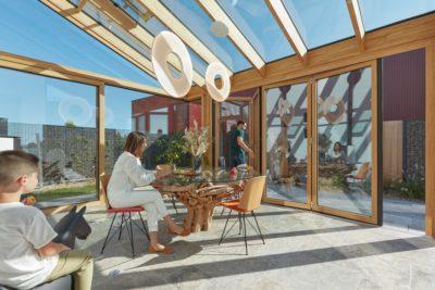 extension de maison vitrée bois-alu