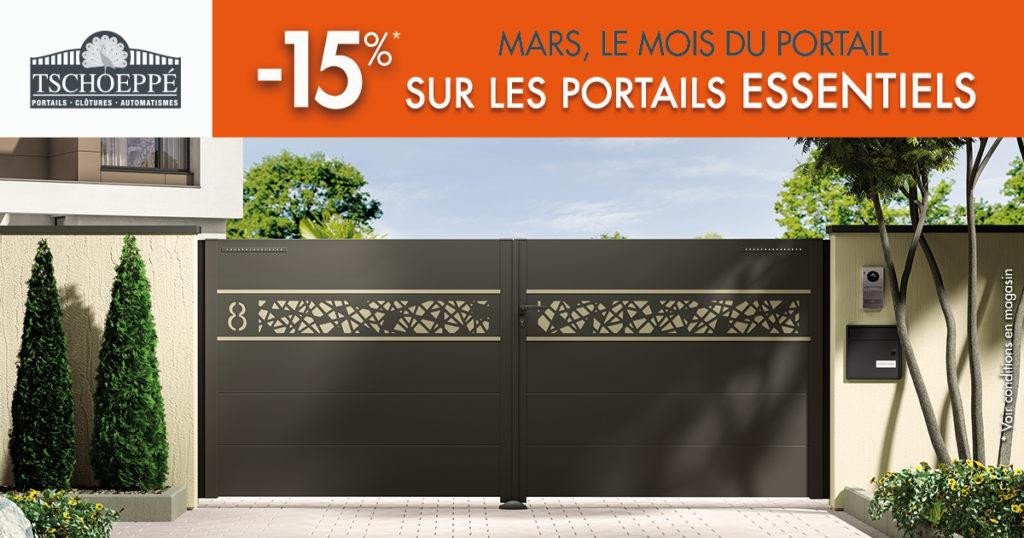 promo portails aluminium en Sartheen mars